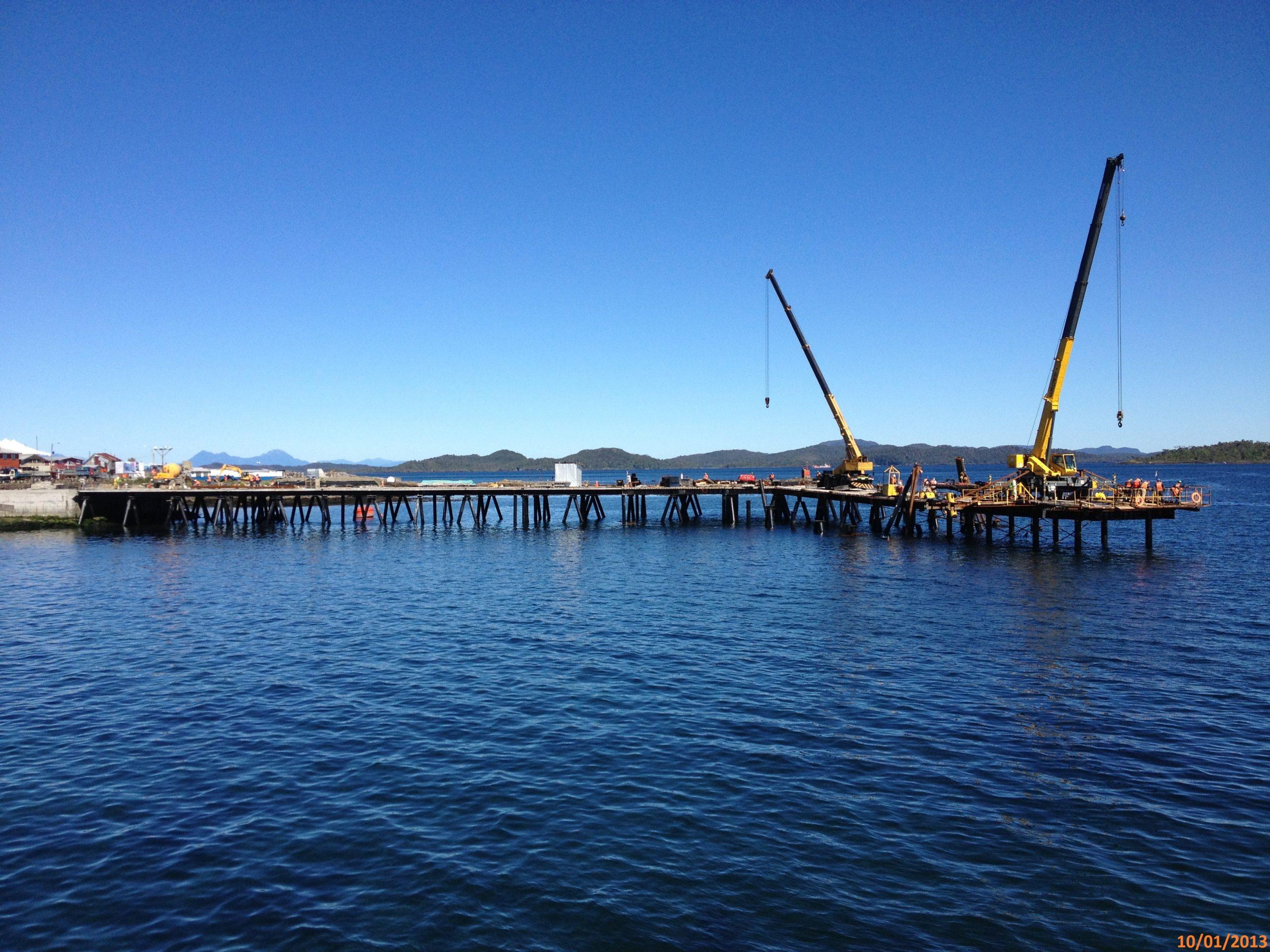 Construcción Muelle Melinka