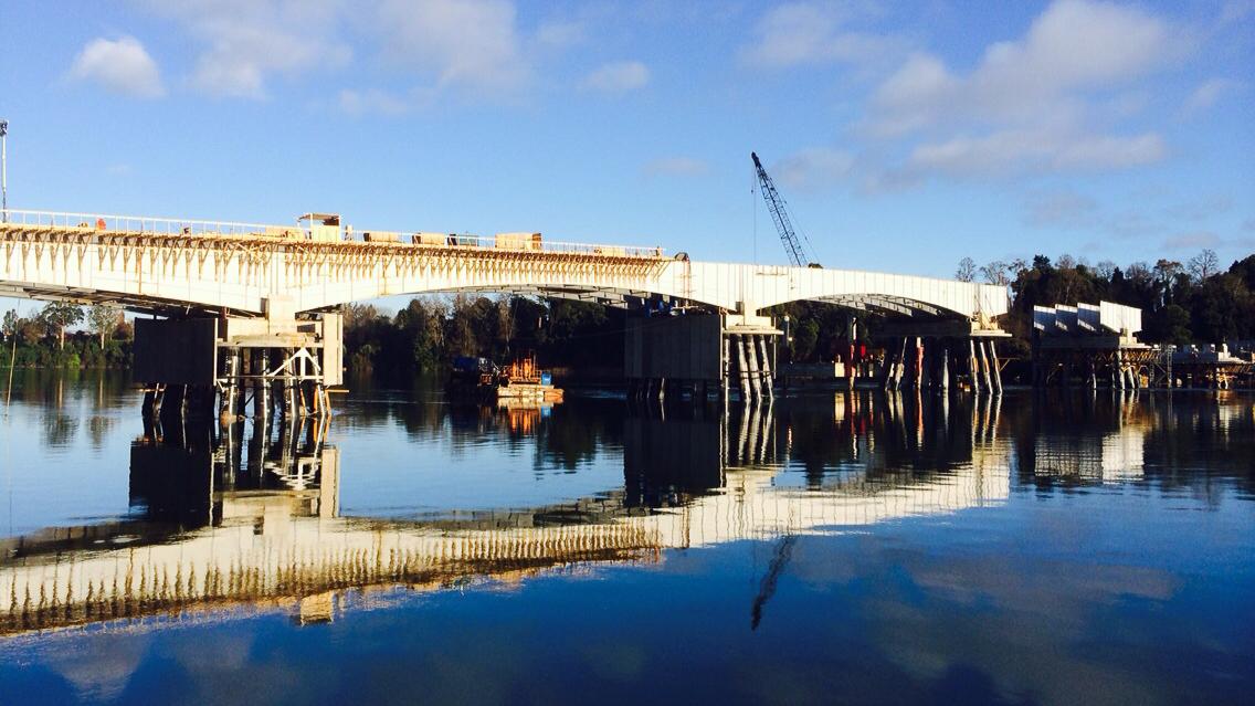 Construcción circunvalación Valdivia y Puente Santa Elvira